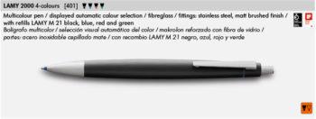 Estilógrafo Lamy 200 4 colores 401