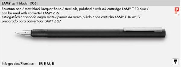 LAMY CP 1 BLACK 056