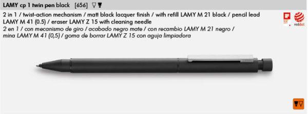 LAMY CP 1 TWIN PEN BLACK 656