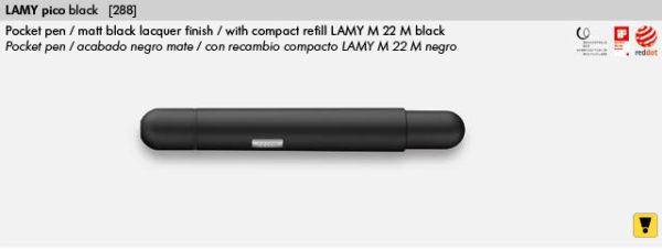 LAMY PICO BLACK 288