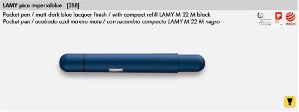 LAMY PICO BLUE 288