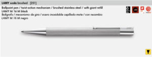 LAMY SCALA BRUSHED 251