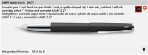 LAMY STUDIO BLACK 067
