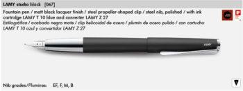 LAMY STUDIO BLACK 067