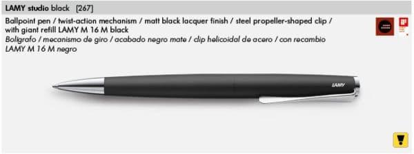 LAMY STUDIO BLACK 267
