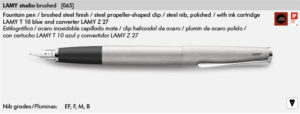 LAMY STUDIO BRUSHED 065
