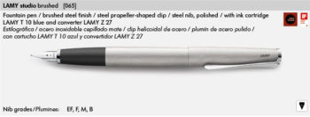 LAMY STUDIO BRUSHED 065