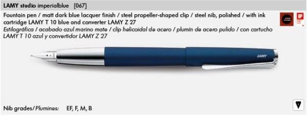 LAMY STUDIOIMPERIALBLUE 067