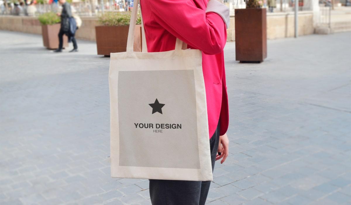 personalización de bolsas en algondón